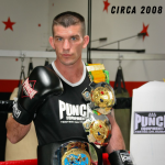 Muay Thai fighter wearing Black Diamond Gloves Circa 2008