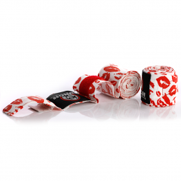Womens Stretch Hand Wraps Lips Red 2