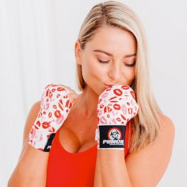 Punch White Red Hand Wraps For Women
