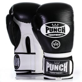 Black and white Trophy Getters Commercial Boxing Gloves