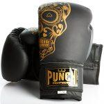 Gold Skull Matte Black Getters Boxing Glove 2020 1