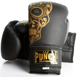 Gold Skull Matte Black Getters Boxing Glove 2020 1