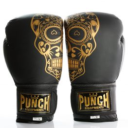Gold Skull Matte Black Getters Boxing Glove 2020