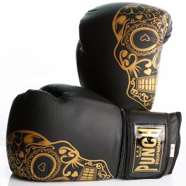 Gold Skull Matte Black Getters Boxing Glove 2020 3