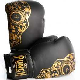 Gold Skull Matte Black Getters Boxing Glove 2020 4