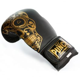 Gold Skull Matte Black Getters Boxing Glove 2020 5