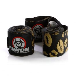Womens Stretch Hand Wraps Lips Gold Black 2
