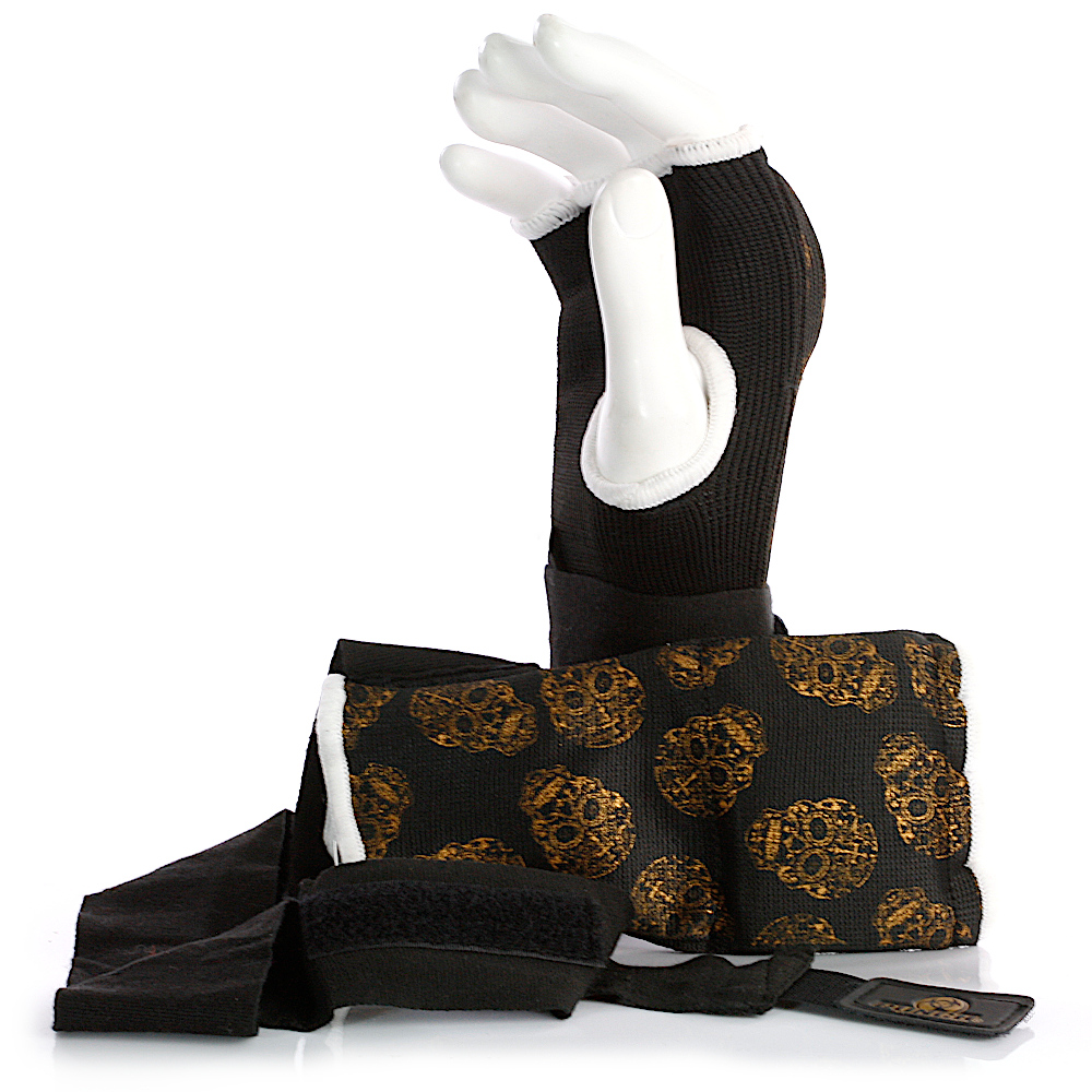 womens quick wraps gold skull 2