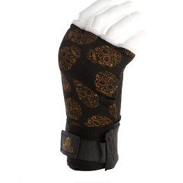 womens quick wraps gold skull 3
